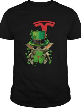 Baby Yoda Tesla Motors Shamrock St Patricks Day shirt