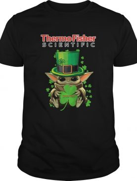 Baby Yoda Thermo Fisher Scientific Shamrock StPatricks Day shirt