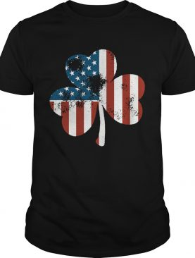 Flowers Irish American Flag shirt