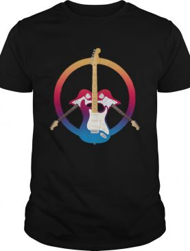 Guitars Peace Symbol Musical Instrument shirt