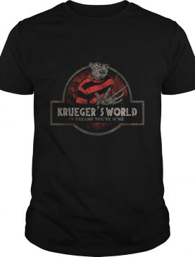Jurassic Park Logo Freddy Kruegers World In Dreams Youre Mine shirt
