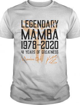 Mamba Out Legendary Mamba 1978 2020 41 Years Of Greatness shirt