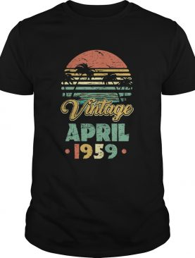 Retro Classic Vintage April 1959 shirt