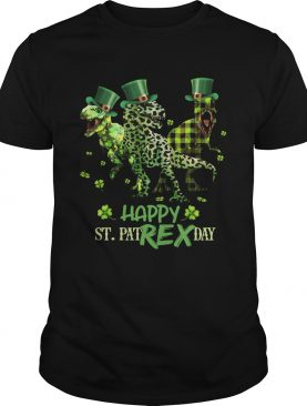 Shamrock luckiest happy St Pat Rex day shirt