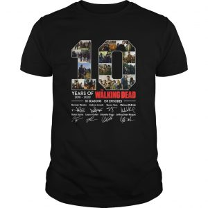 10 Years Of The Walking Dead Signature shirt