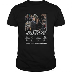 21 Years Of Law And Order Special Victims Unit Thank You For The Memories Signatures shirt
