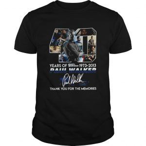 40 years of fast and furious 19732013 paul walker signature thank you for the memories shirt