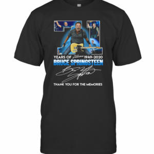71 Years Of Bruce Springsteen 1949 2020 Signature T-Shirt