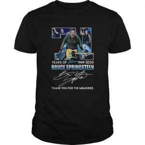 71 Years Of Bruce Springsteen 1949 2020 Signature Thank You For The Memories shirt