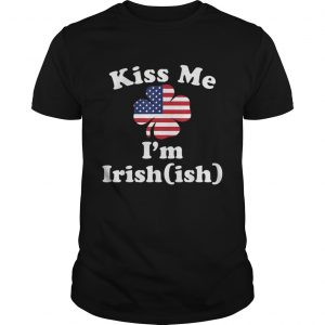 American Flag Kiss Me Im Irish St Patricks Day shirt