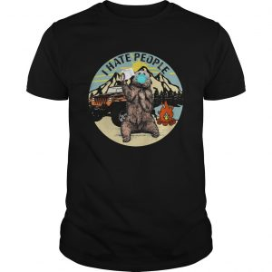 Bear Toilet Paper And I Hate People shirt