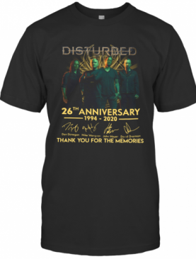 Disturbed 26Th Anniversary 1994 2020 Thank You For The Memories T-Shirt