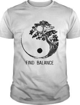 Find Balance Yin Yang Bonsai Tree Japanese shirt