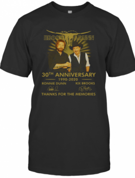 Logo Brooks And Dunn 30Th Anniversary 1990 2020 Signatures T-Shirt