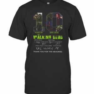 10 Years Of The Walking Dead 2010 2020 Anniversary T-Shirt