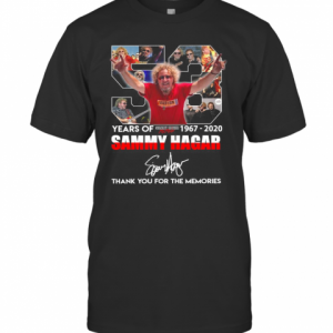 53 Years Of Sammy Hagar 1967 2020 Thank You For The Memories T-Shirt