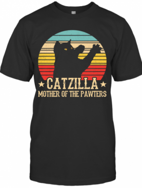 Catzilla Mother Of The Pawters Vintage T-Shirt
