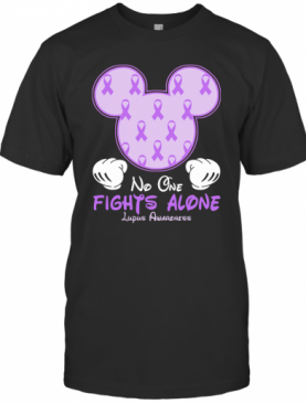 Disney Mickey Mouse No One Fights Alone Lupus Awareness T-Shirt