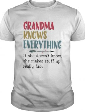 Grandma Know Everything Funny Family Gift For Nana Crewneck shirt