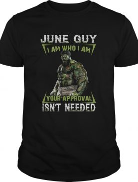 June Guy I Am Who I Am Your Approval Isnt Needed shirt