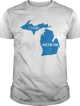 i love michigan map shirt