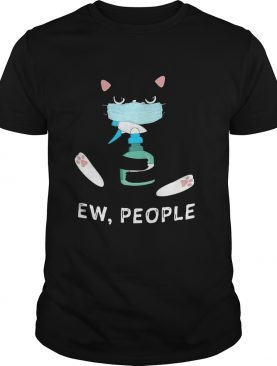 Black Cat Face Mask Ew People shirt