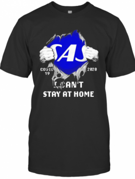 Blood Inside Me Scandinavian Airlines COVID 19 2020 I Can'T Stay At Home T-Shirt