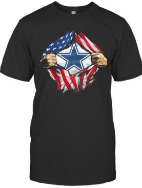 Blood Insides Dallas Cowboys American Flag Independence Day T-Shirt