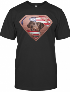 Blood Insides Superman Labrador Retriever American Flag Independence Day T-Shirt