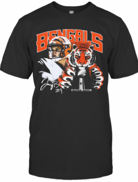 Cincinnati Bengals 9 Joe Burrow Super Bowl Champions T-Shirt