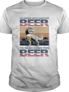 Dinosaur Im Gonna Need Another Beer To Wash Down This Beer Vintage shirt