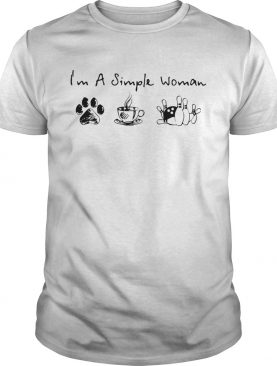 Im A Simple Woman Dog Coffee and Bowling shirt