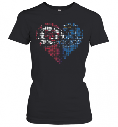 Kansas City Chiefs And Kansas City Royals Heart Puzzle T-Shirt Classic Women's T-shirt