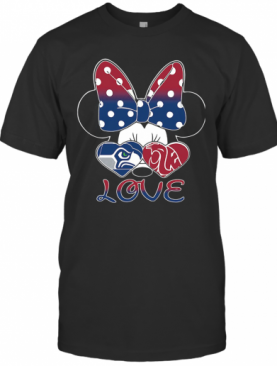 Minnie Mouse Seattle Seahawks Washington State Cougars Love T-Shirt