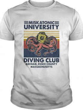 Miskatonic university Scuba diving club aikham essex county vintage shirt