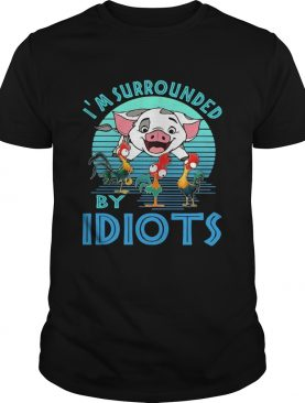 Pig and chicken im surrounded by idiots vintage shirt