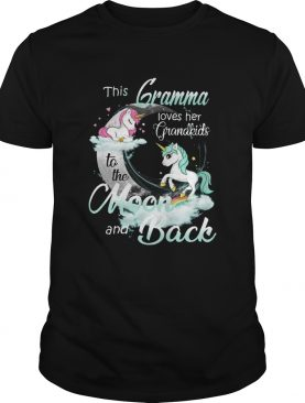 This Gramma Loves Her Grandkids To The Moon And Back Unicorn shirt