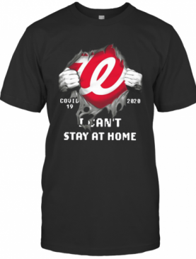 Washington Nationals Inside Me Covid 19 2020 I Can'T Stay At Home T-Shirt