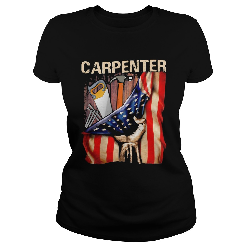 Carpenter American flag independence day  Classic Ladies