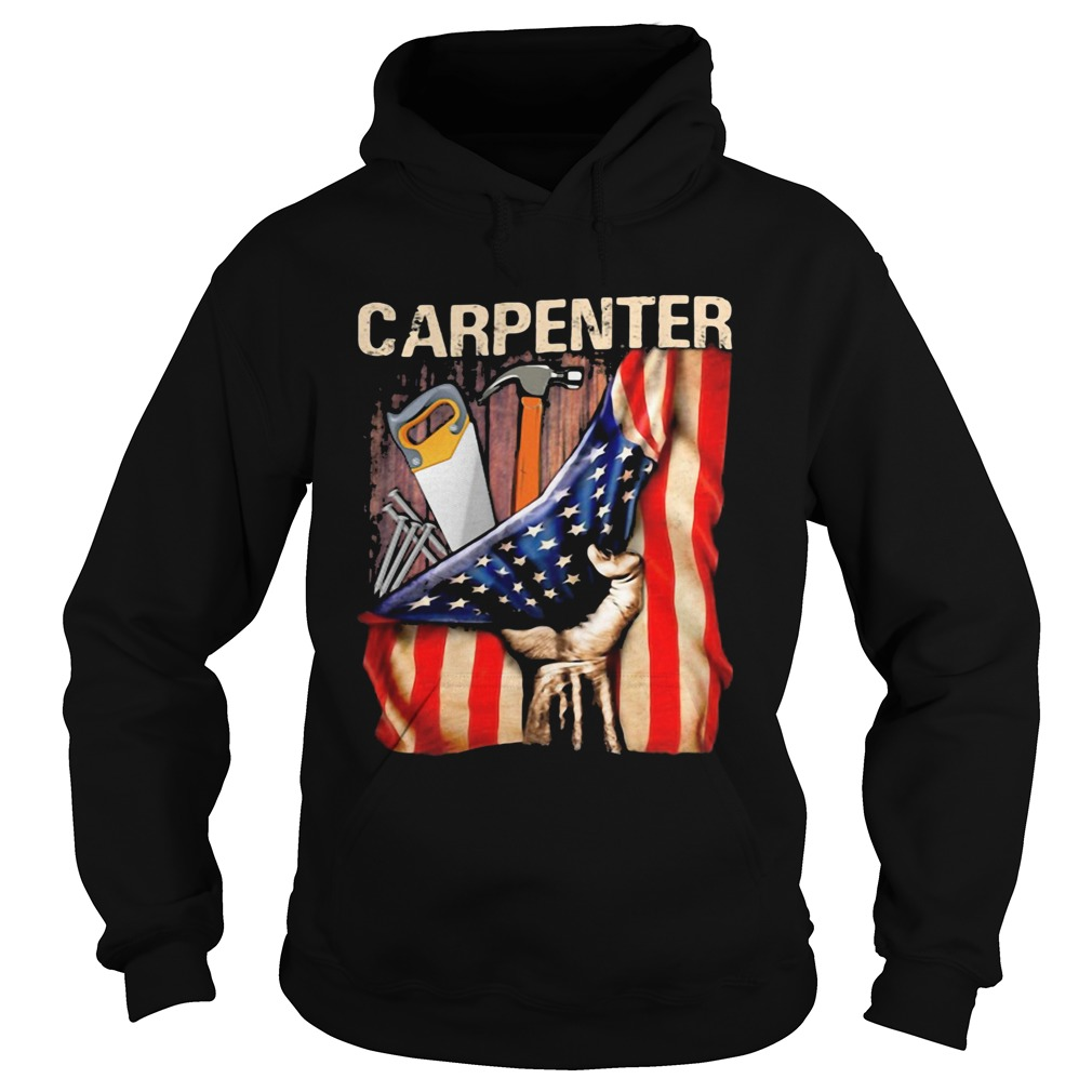 Carpenter American flag independence day  Hoodie