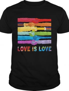 LGBT Hold Hand Love Is Love shirt