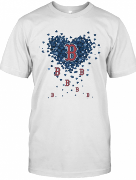 Love Boston Red Sox Baseball Logo Hearts T-Shirt