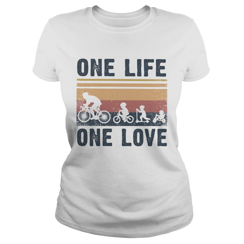 One Life One Love Bike Bikecil Vintage Retro  Classic Ladies