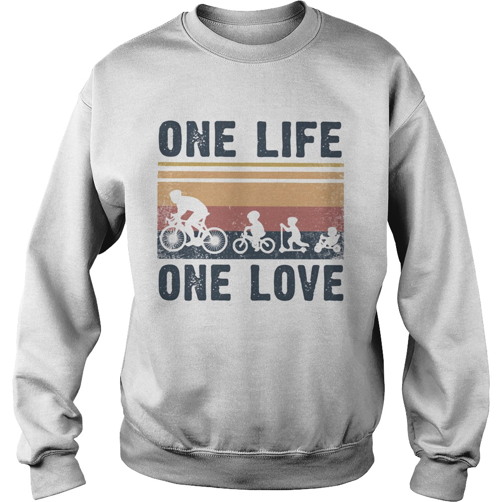 One Life One Love Bike Bikecil Vintage Retro  Sweatshirt