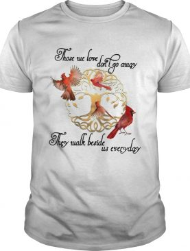 Bird Those We Love Dont Go Away They Walk Beside Us Everyday shirt