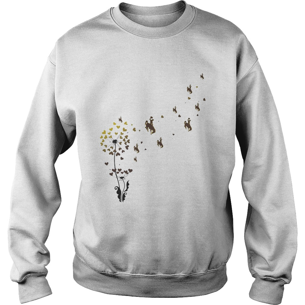 Dandelion flower university of wyoming athletics hearts Sweatshirt