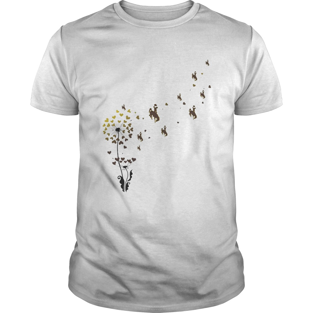 Dandelion flower university of wyoming athletics hearts Unisex