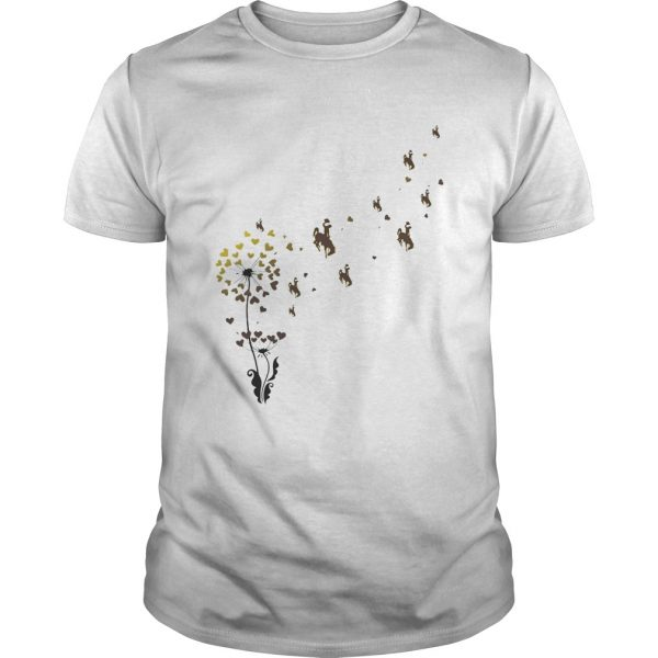 Dandelion flower university of wyoming athletics hearts shirt