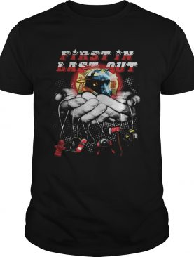 First in last out hand keychains shirt