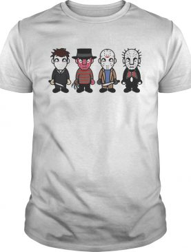 Halloween horror characters cartoon chibi shirt